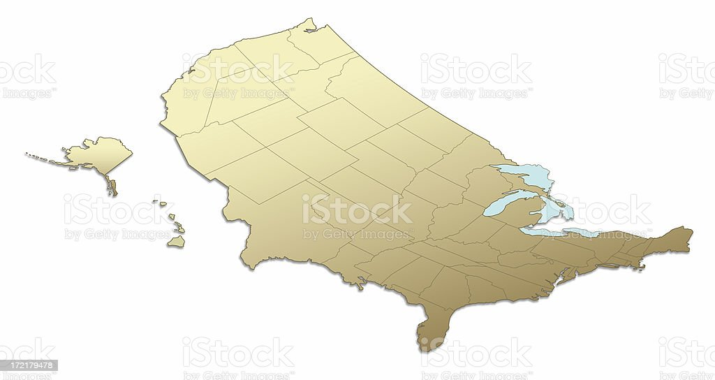 US Map East to West royalty-free stock photo