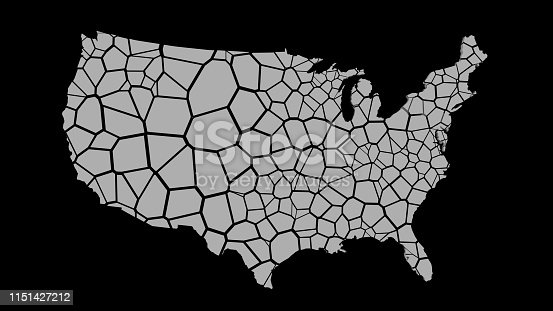 1056103150istockphoto 3D US map fractured into random pieces 1151427212