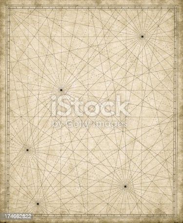 Old nautical map background.See also: