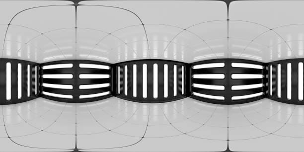 8K HDRI Karte, kontrastreiche kugelförmige Umgebungspanorama-Hintergrund, abstrakte Innenlichtquelle Rendering (3d ächdeutige Illustration) – Foto