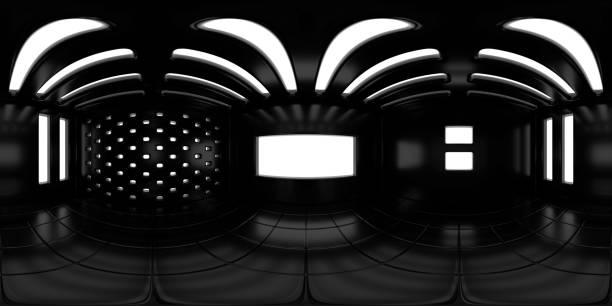 8K HDRI Karte, kontrastreiche kugelförmige Umgebungspanorama-Hintergrund, moderne Innenbeleuchtung Rendering (3d Innenausrüster) – Foto
