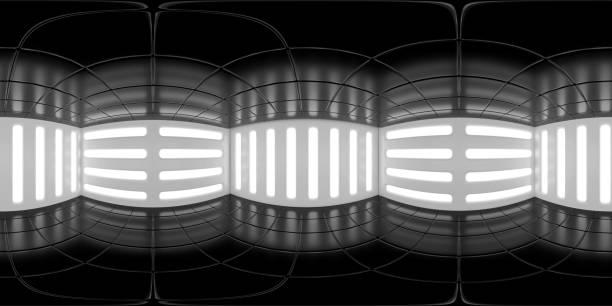 8K HDRI-Karte, kontrastreiche kugelförmige Umgebungspanorama-Hintergrund, moderne Innenraumlichtquelle (3d Innenausbau) – Foto