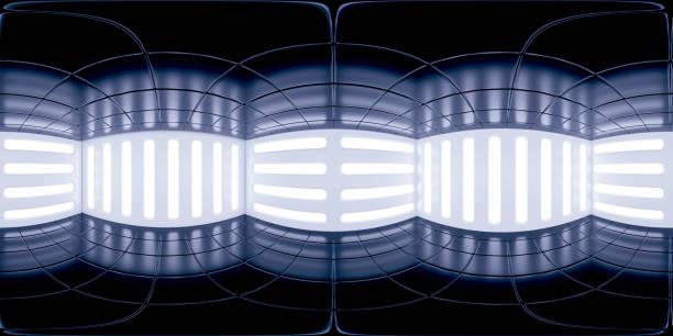8K HDRI Karte, kontrastreiche kugelförmige Umgebungspanorama-Hintergrund, moderne Innenbeleuchtung Rendering (3d Indoor-Ausstattung Renner) – Foto
