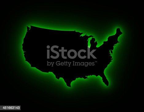 450754061istockphoto USA map in green light 451663143