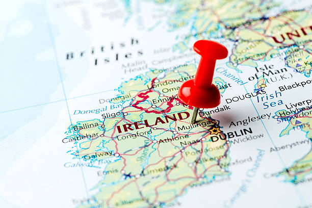 mappa irlanda - repubblica d'irlanda foto e immagini stock