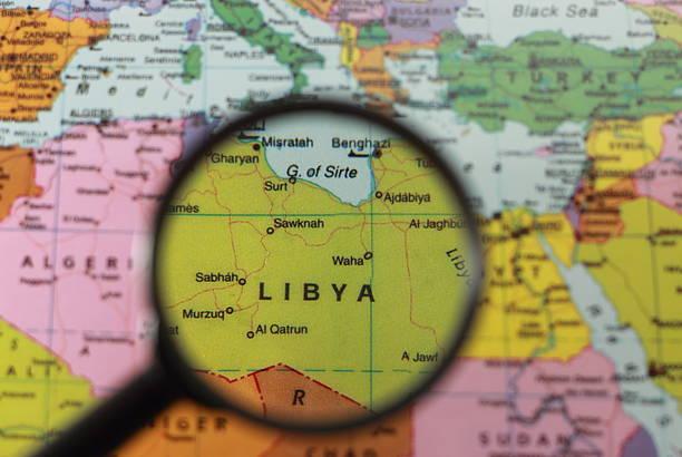 Map Libya stock photo