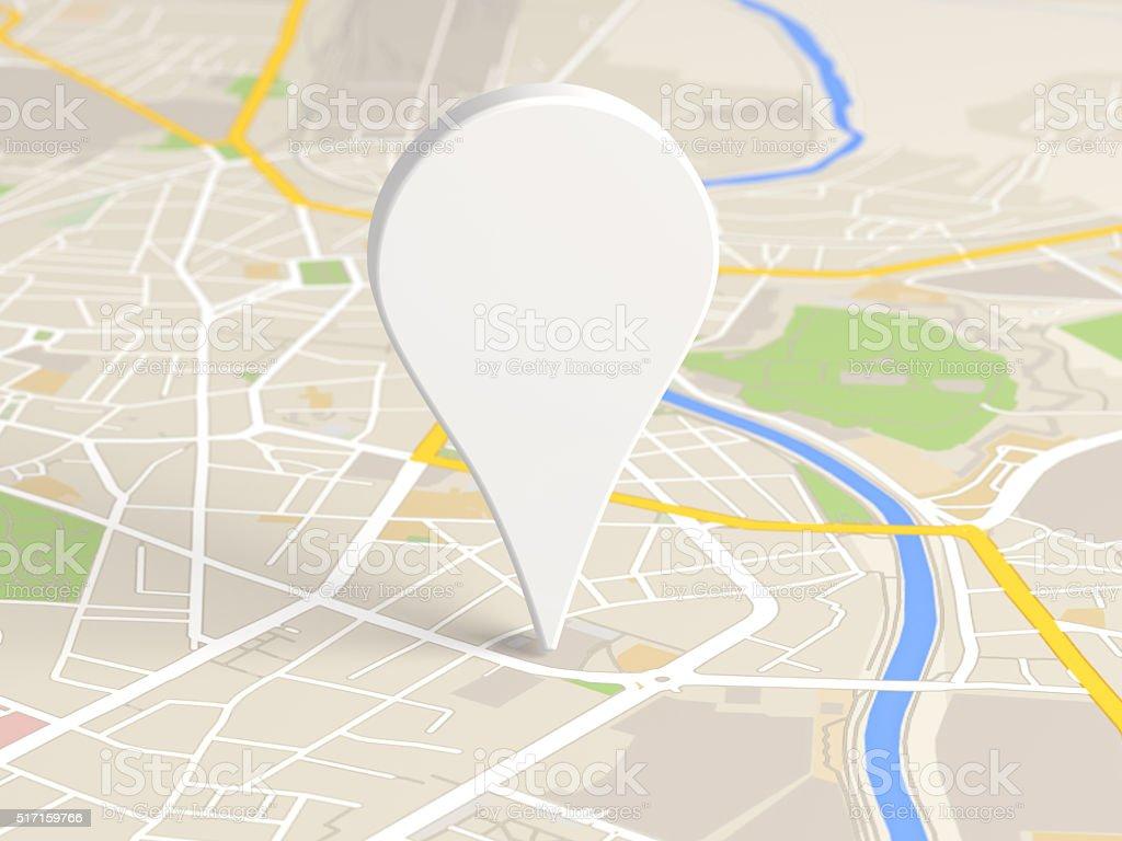 map locator icon stock photo