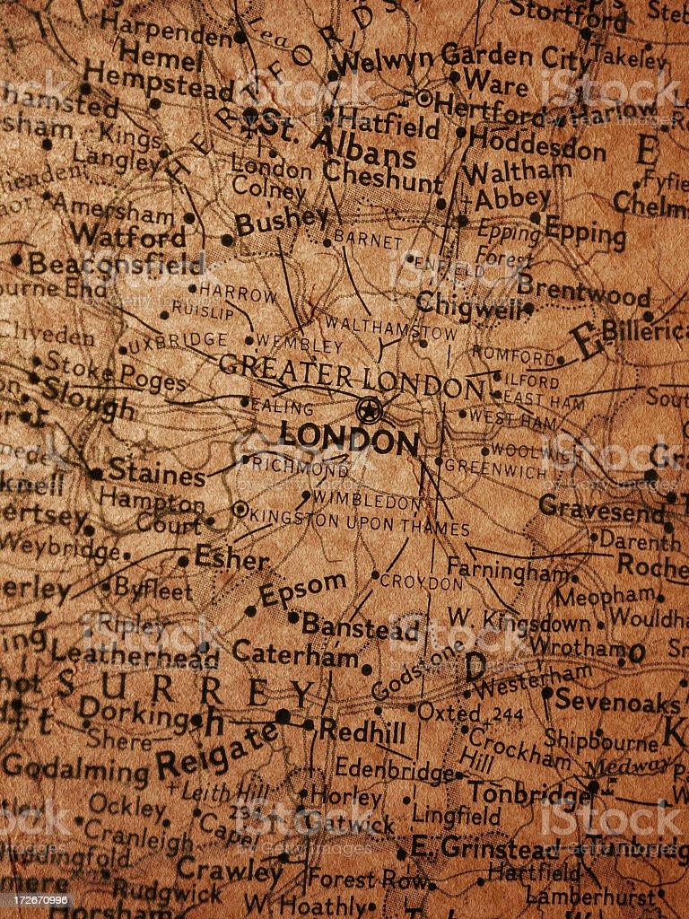 Map - London royalty-free stock photo