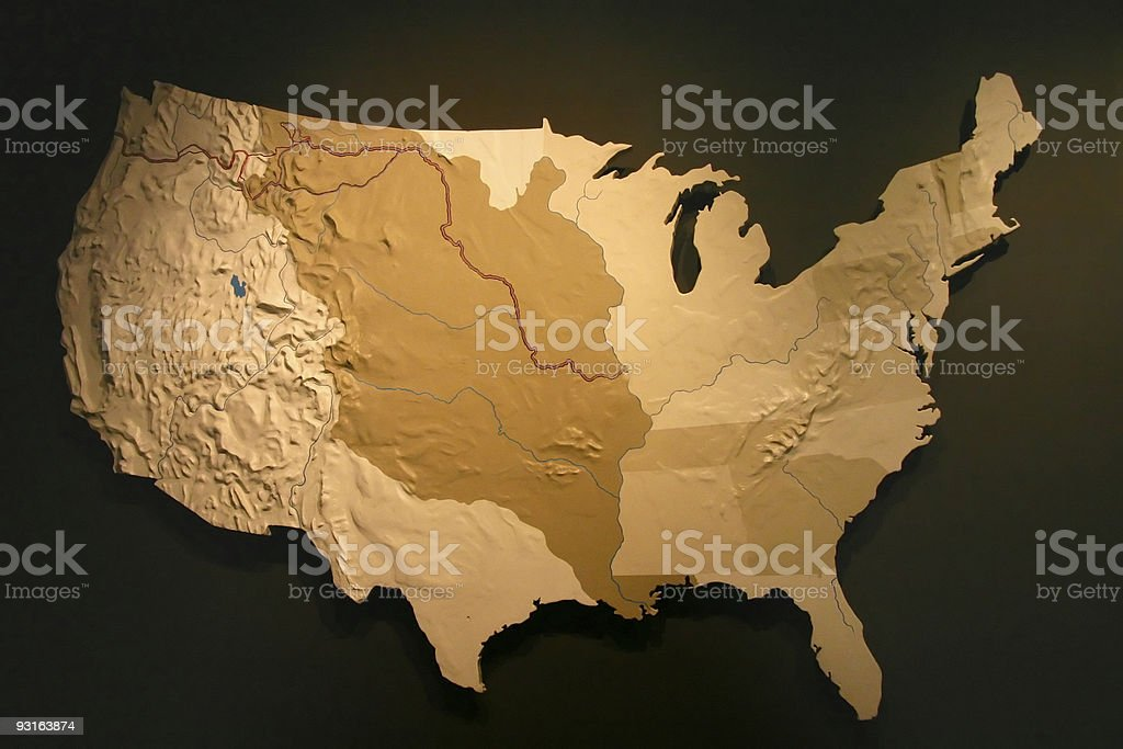 US Map - Louisiana Purchase higlight stock photo