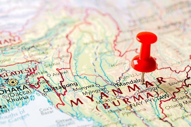 Map Myanmar (Burma) http://farm8.staticflickr.com/7189/6818724910_54c206caf8.jpg myanmar stock pictures, royalty-free photos & images