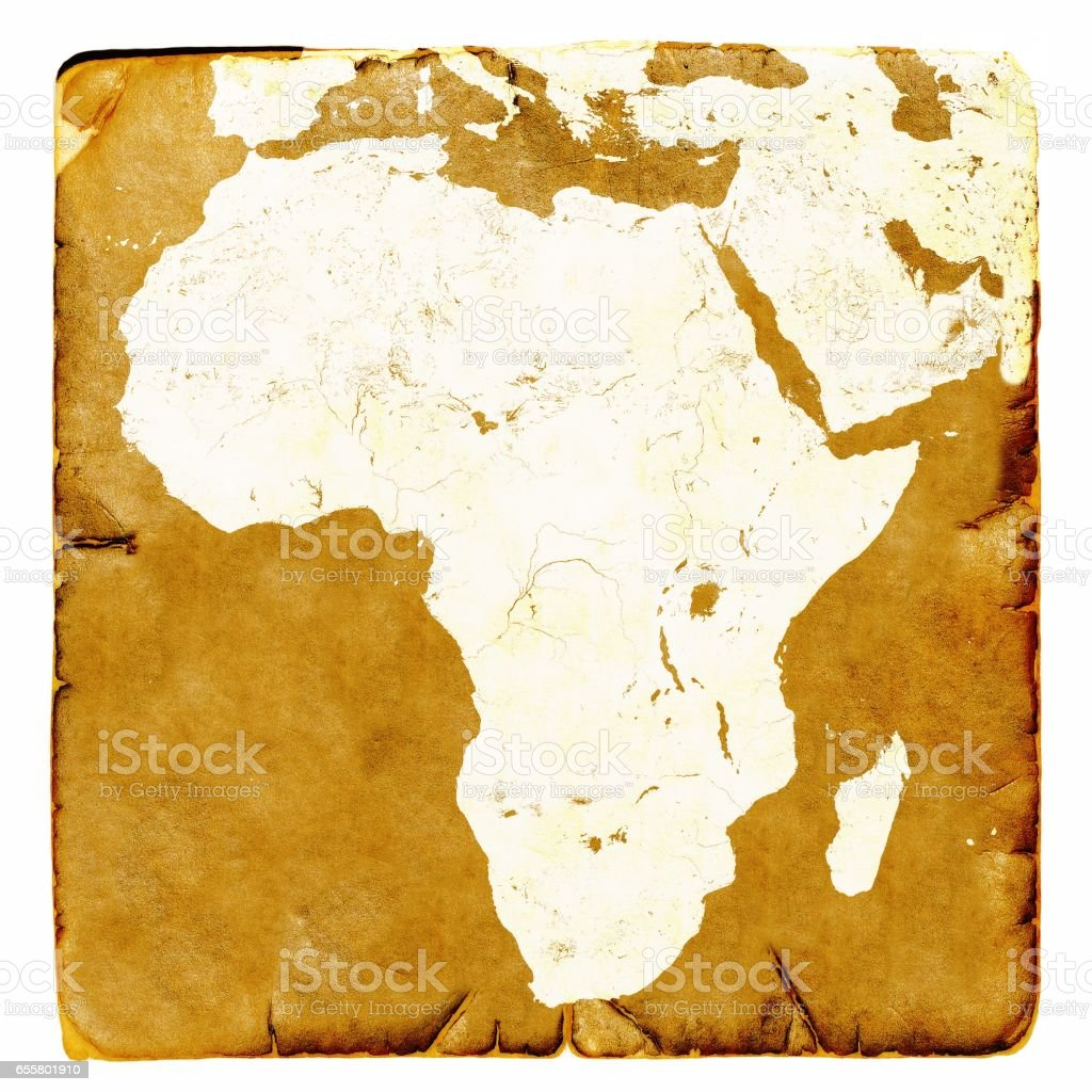 Map Of Africa Blank In Old Style Brown Graphics A Retro Mode On Ancient