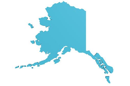 istock Map of Alaska 1056093804