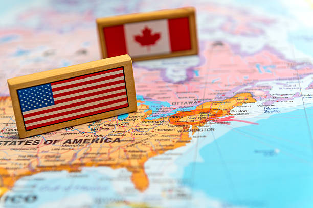 map of america - north america stock photos and pictures