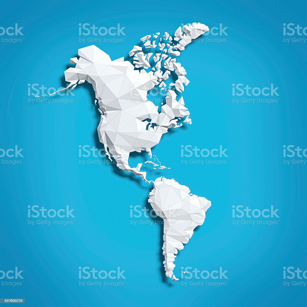 Map of America stock photo