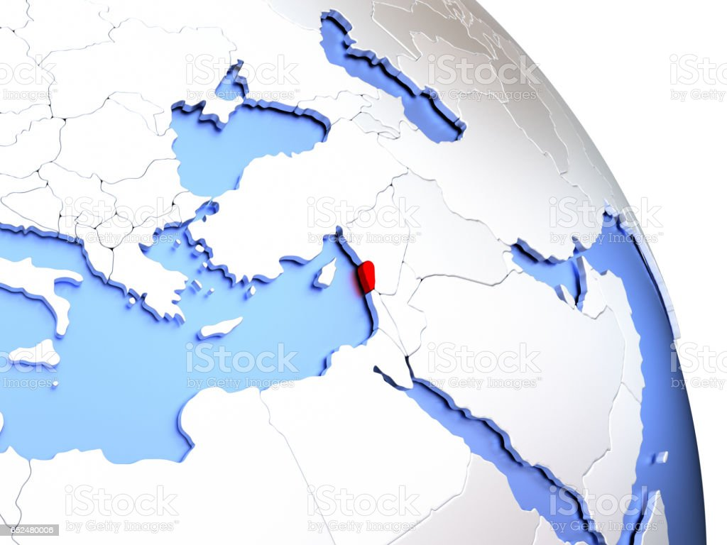 Map of an elegant shiny globe. 3D illustration. stock photo