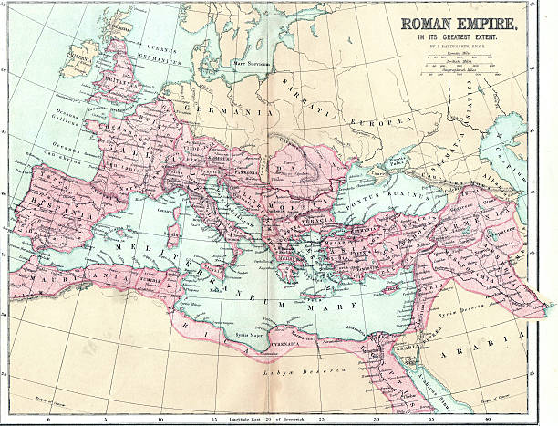 map of ancient roman empire - empire stock pictures, royalty-free photos & images