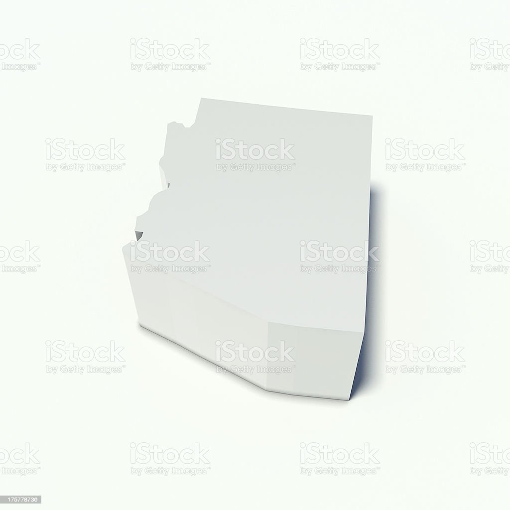 map of arizona royalty-free stock photo