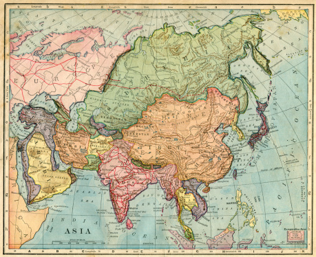 A map of Asia from 1896.