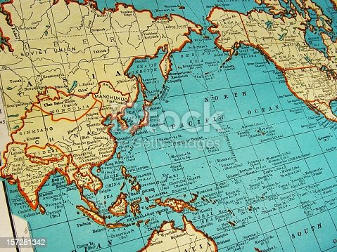 istock Map of Asia 1942 157281342