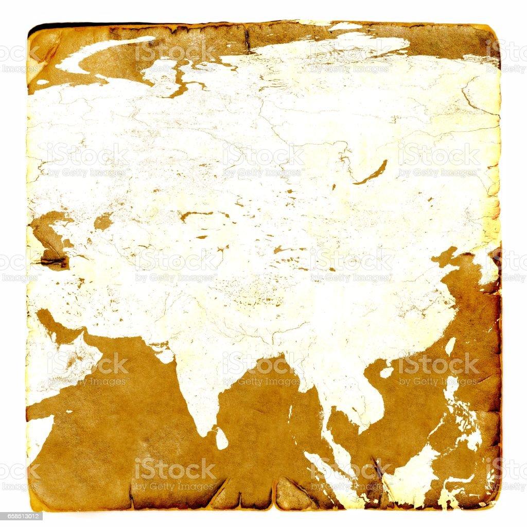 Karta Indien Thailand.Karta Over Asien Kontinenten Tomt I Gammal Stil Ryssland Kina Indien