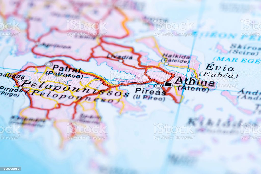 Map of athens greece stock photo more pictures of athens greece map of athens greece royalty free stock photo gumiabroncs Choice Image