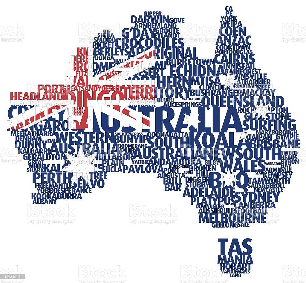 Map of Australia royalty-free stock photo