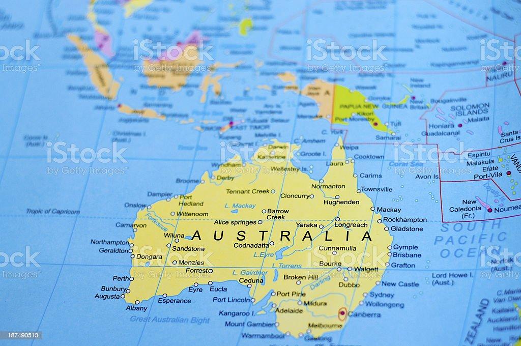 Map of australia stock photo istock map of australia royalty free stock photo gumiabroncs Image collections