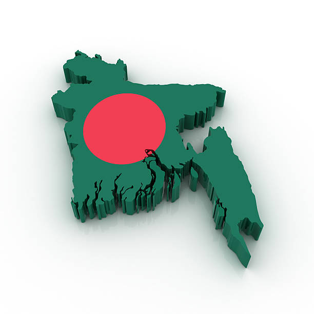 Map of Bangladesh stock photo