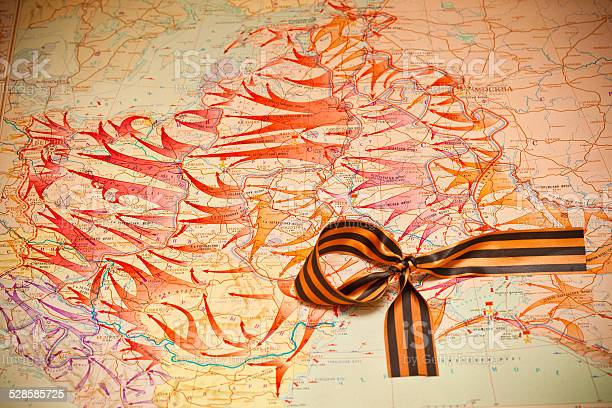 Map of battles in World War II, George Ribbon