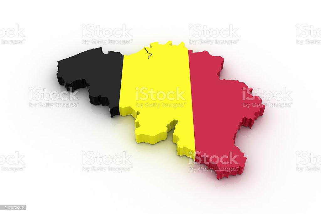 Map of Belgium stock photo
