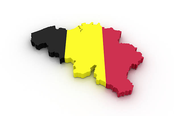 Map of Belgium stock photo