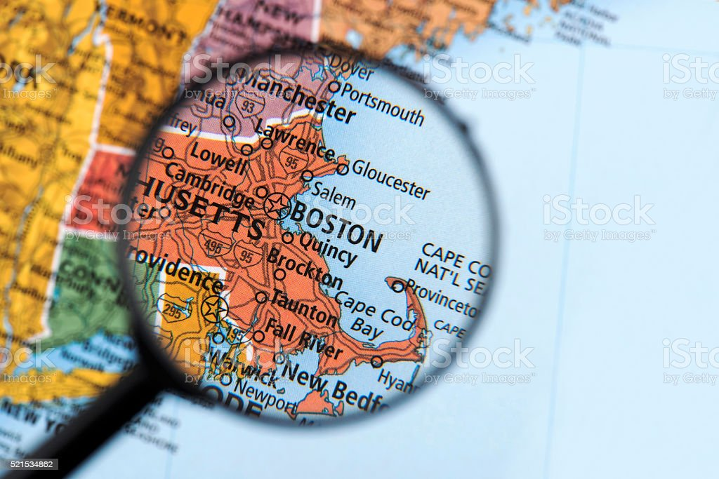 Picture of: Map Of Boston Stock Photo Download Image Now Istock