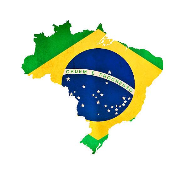 Mapa do Brasil isolado - foto de acervo