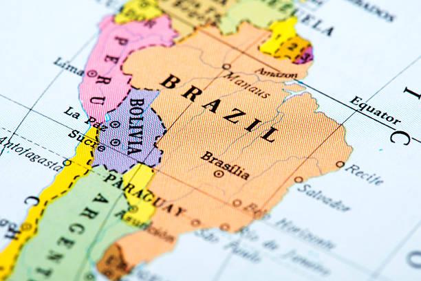 Mapa do Brasil - foto de acervo