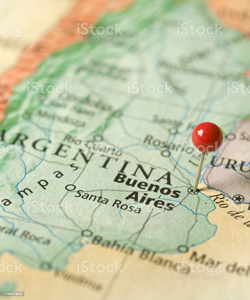 Map Of Buenos Aires,Argentina stock photo