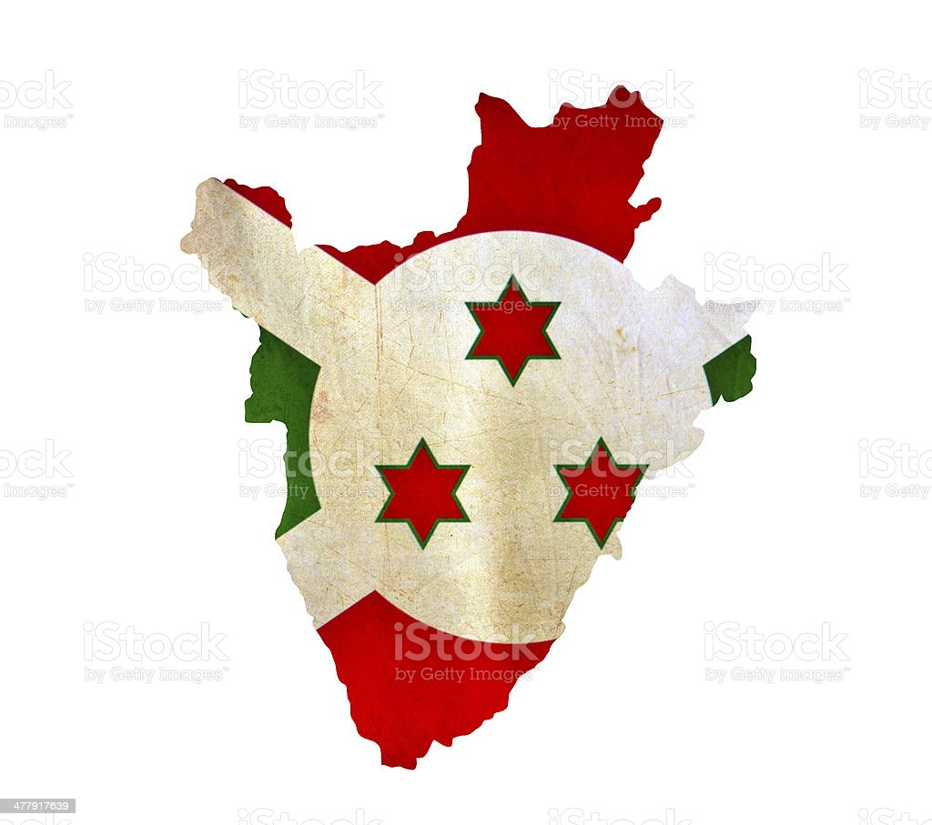 Map of Burundi isolated stock photo