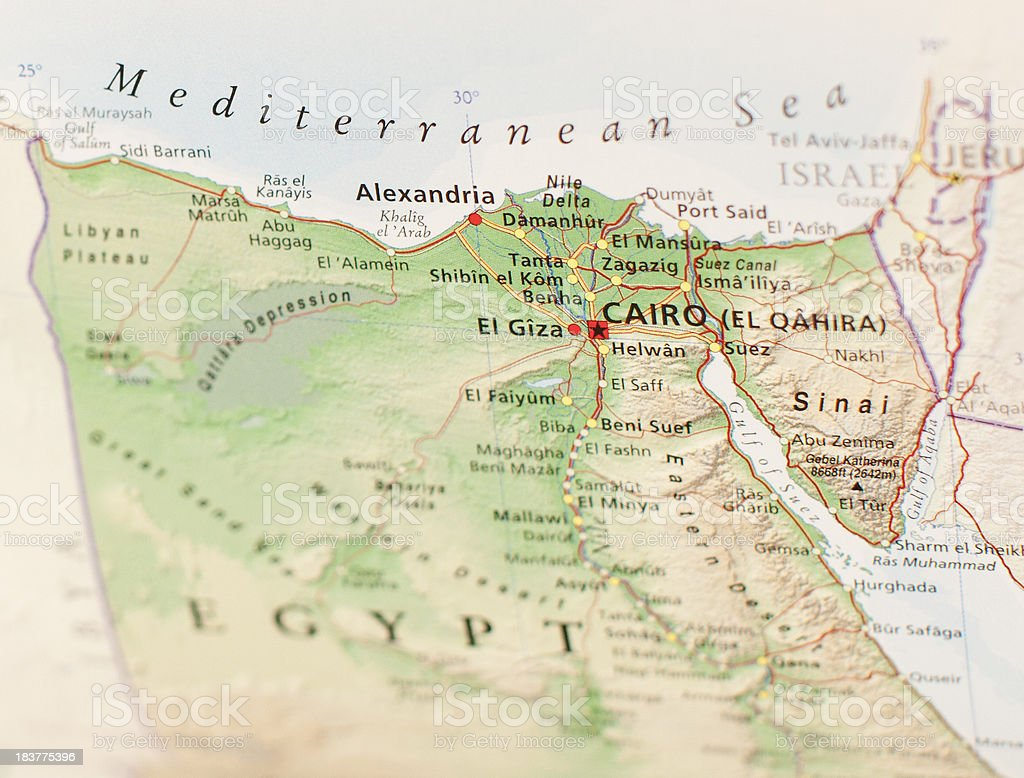 Map Of Cairo Stock Photo - Download Image Now - iStock