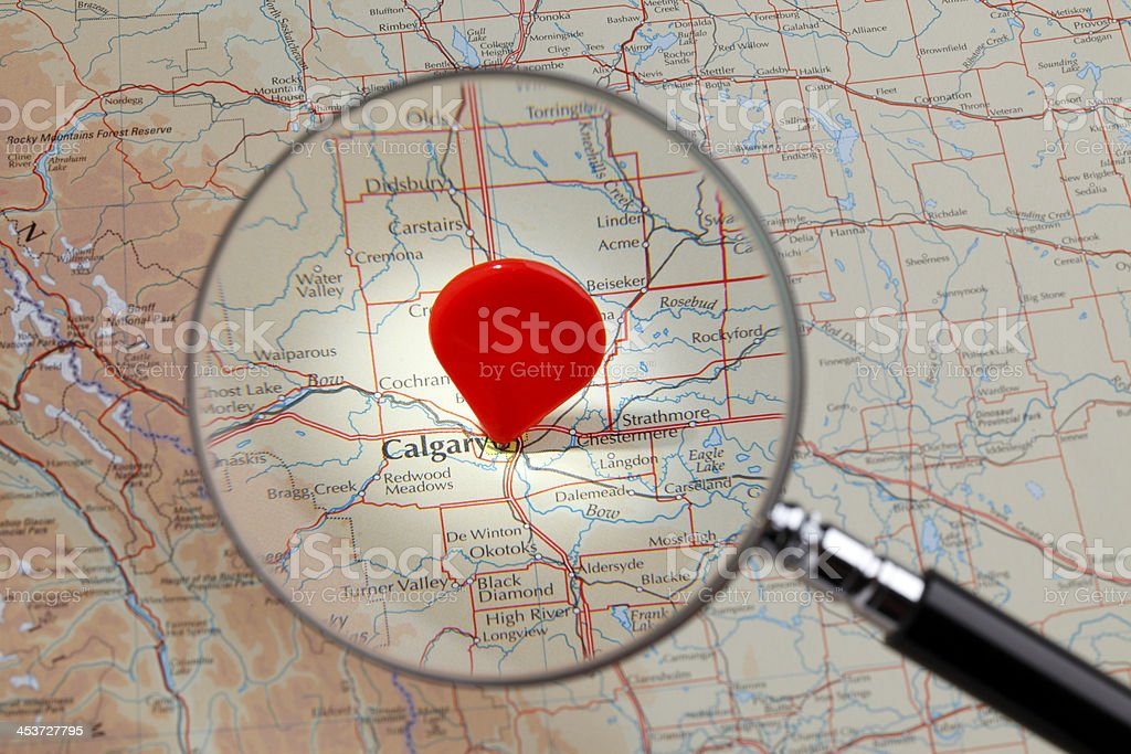 Map of Calgary stock photo