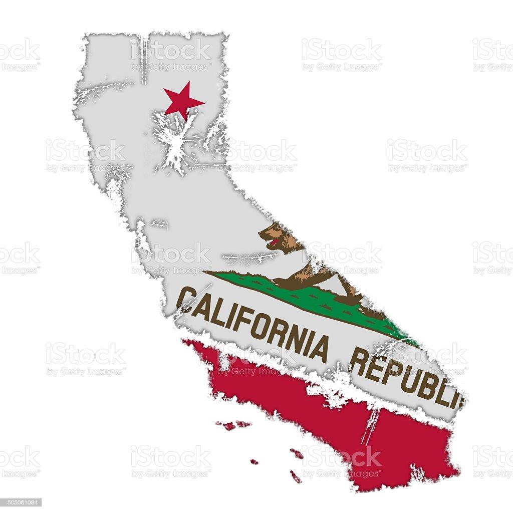Map of California stock photo