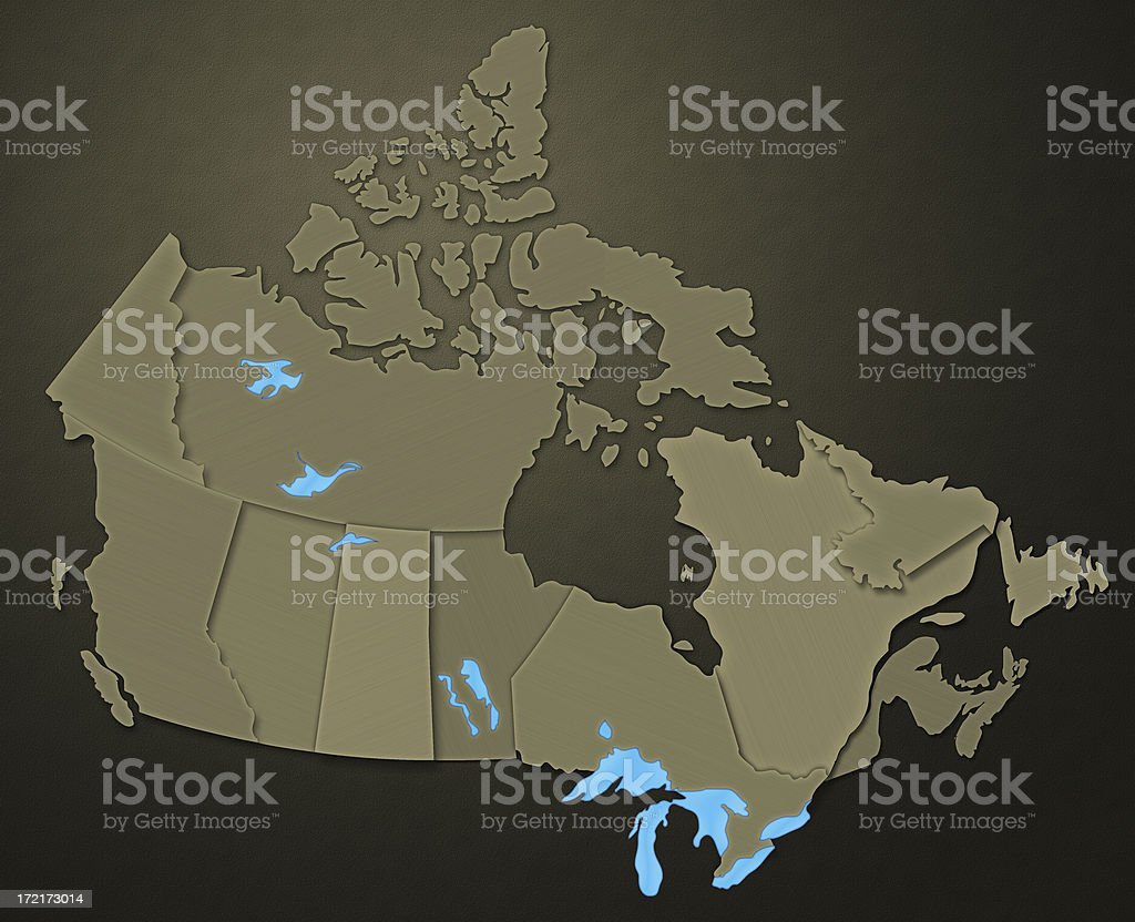 Map of Canada (Earthen Tone Series) stock photo
