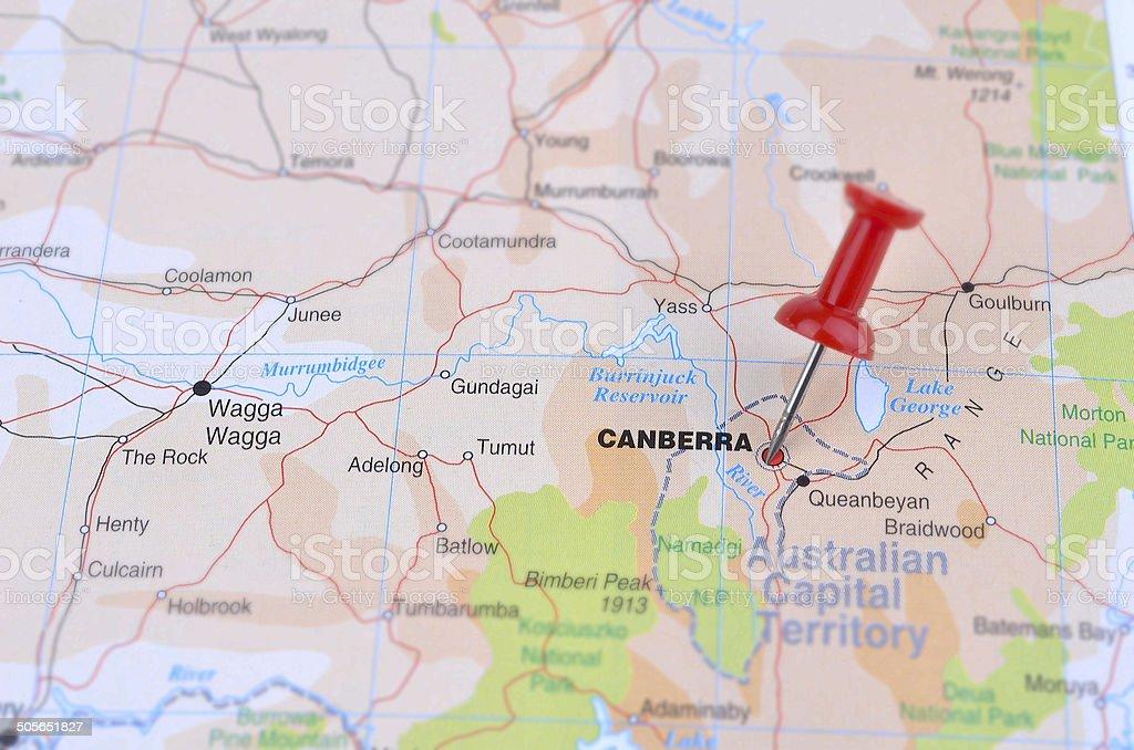 Carte de Canberra
