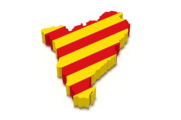 mapa katalońskiej i flagę - lleida zdjęcia i obrazy z banku zdjęć