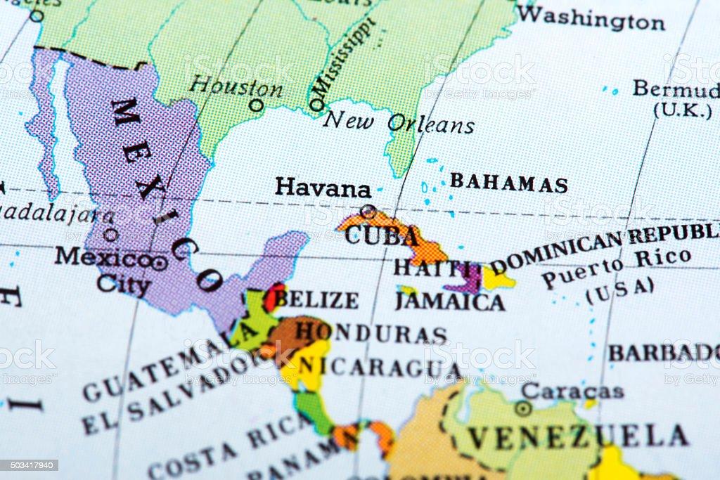 Stati America Centrale Cartina.Mappa Di America Centrale Fotografie Stock E Altre
