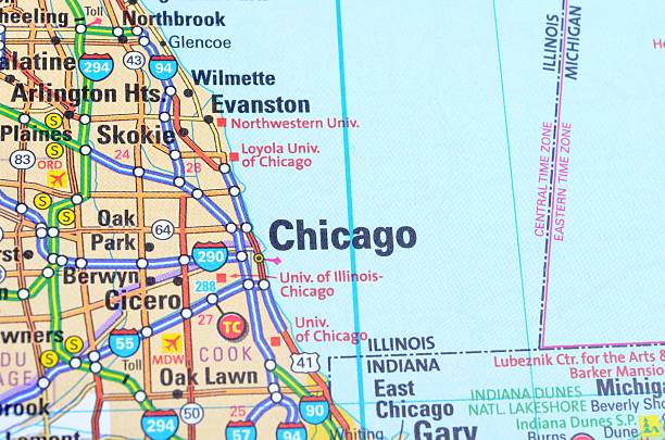 Illinois Map Pictures Images And Stock Photos IStock - Evanston illinois us map