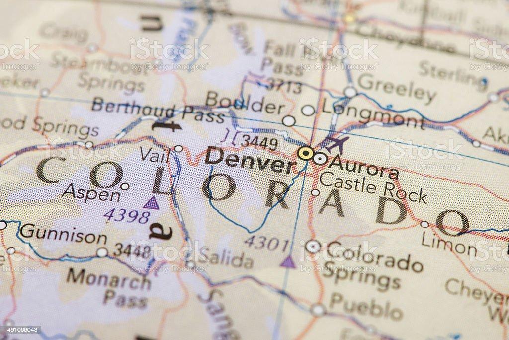 Map Of Colorado圖像檔