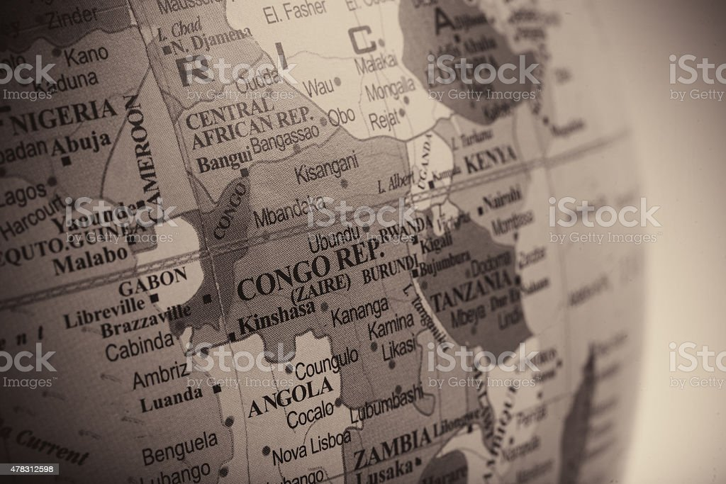 Map of Congo Republic and its Neighbours stock photo