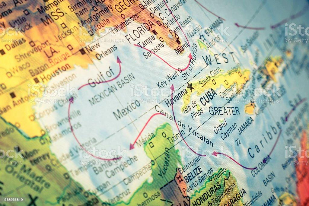 Fotografa de mapa de cuba y florida detalle de la imagen y ms mapa de cuba y florida detalle de la imagen foto de stock libre de derechos gumiabroncs Image collections
