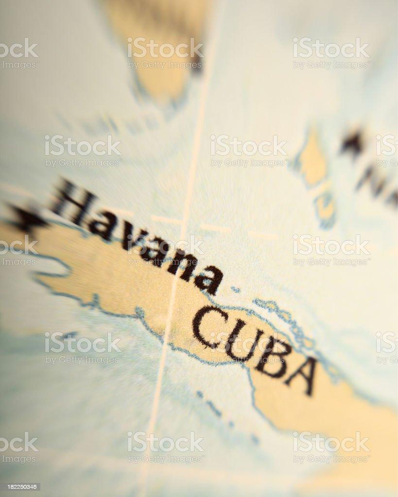 Map of Cuba stock photo