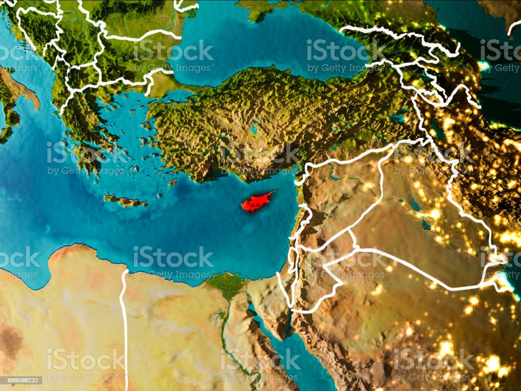 Cyprus Europe Map.Royalty Free Europe Map With Cyprus In Red Pictures Images And