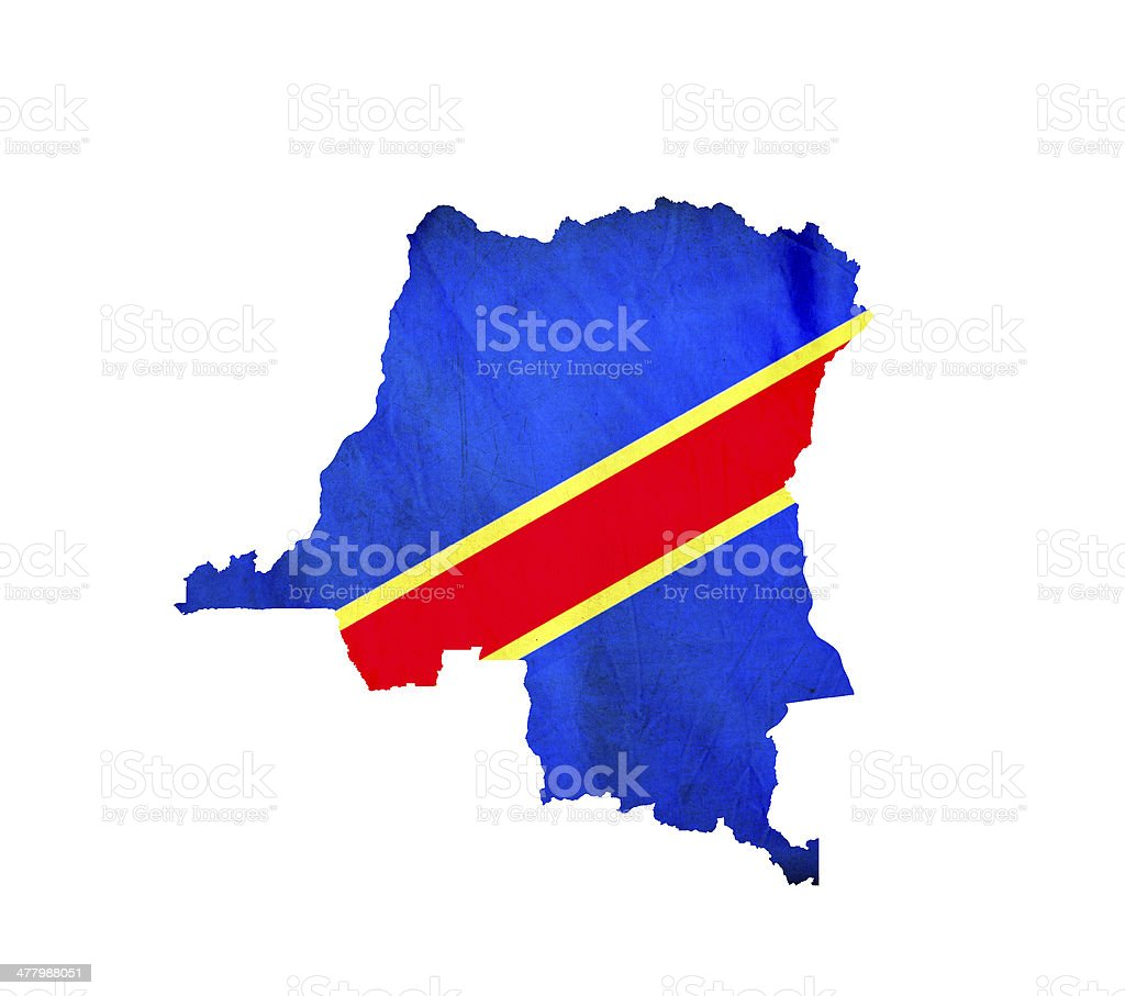 Map of Democratic Republic Congo isolated stock photo